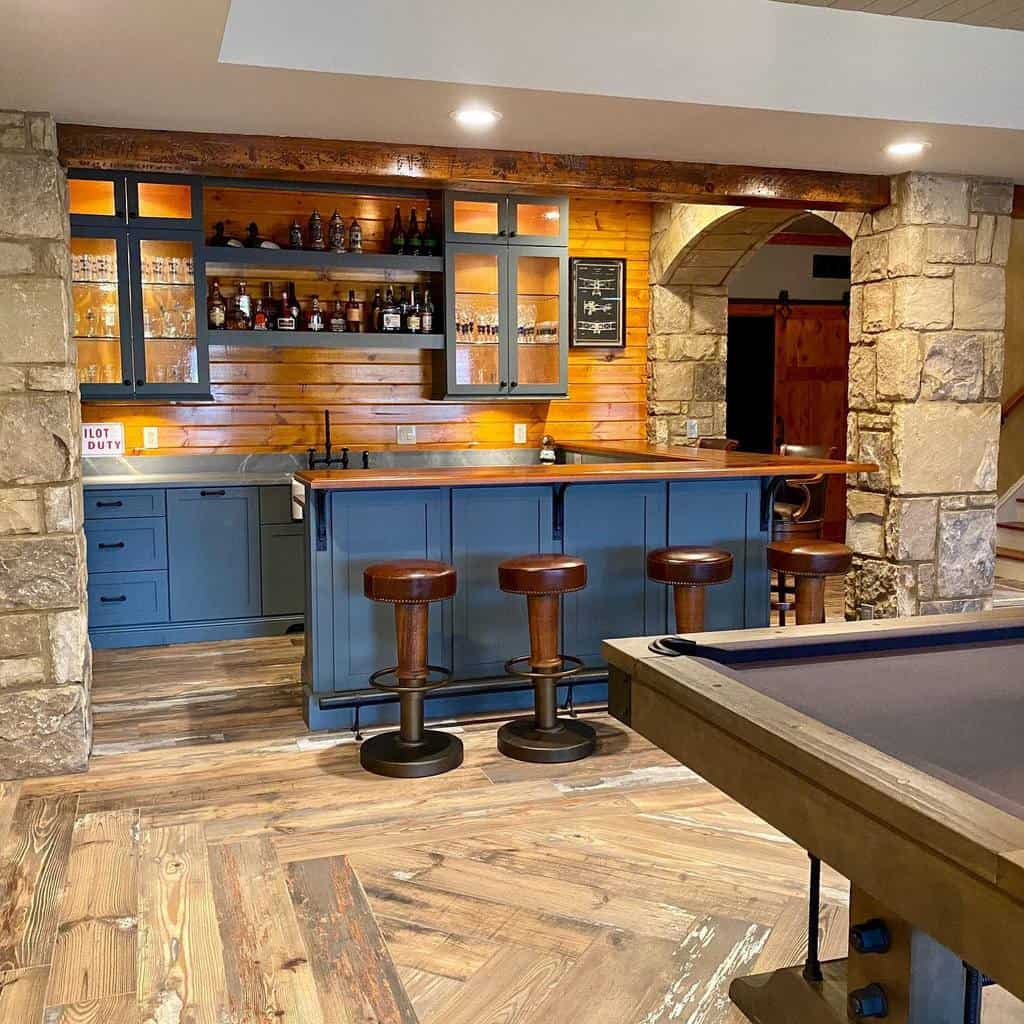 Corner Basement Bar Ideas studiodesignelements