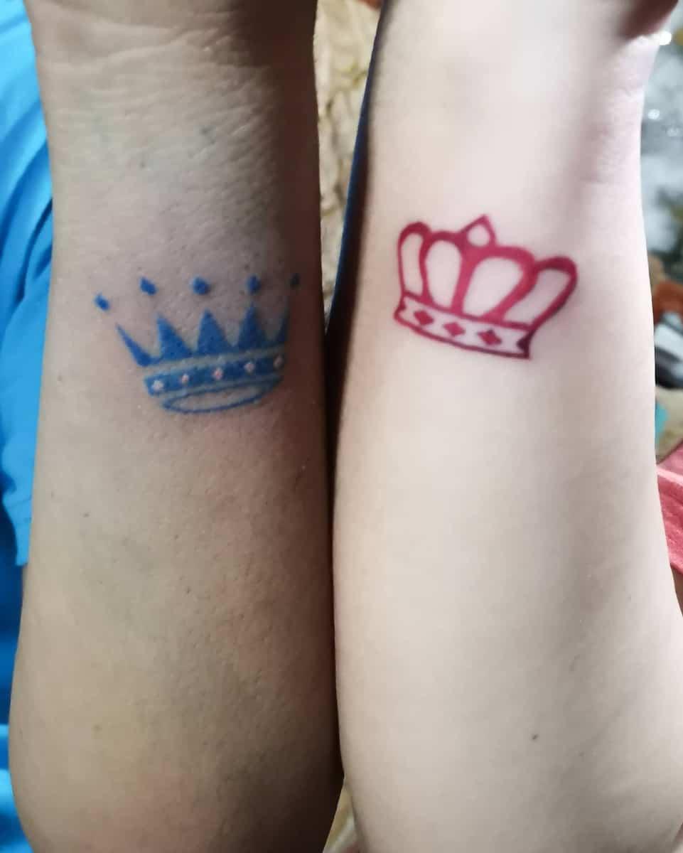 Crown Matching Tattoos panaliganhazelellen