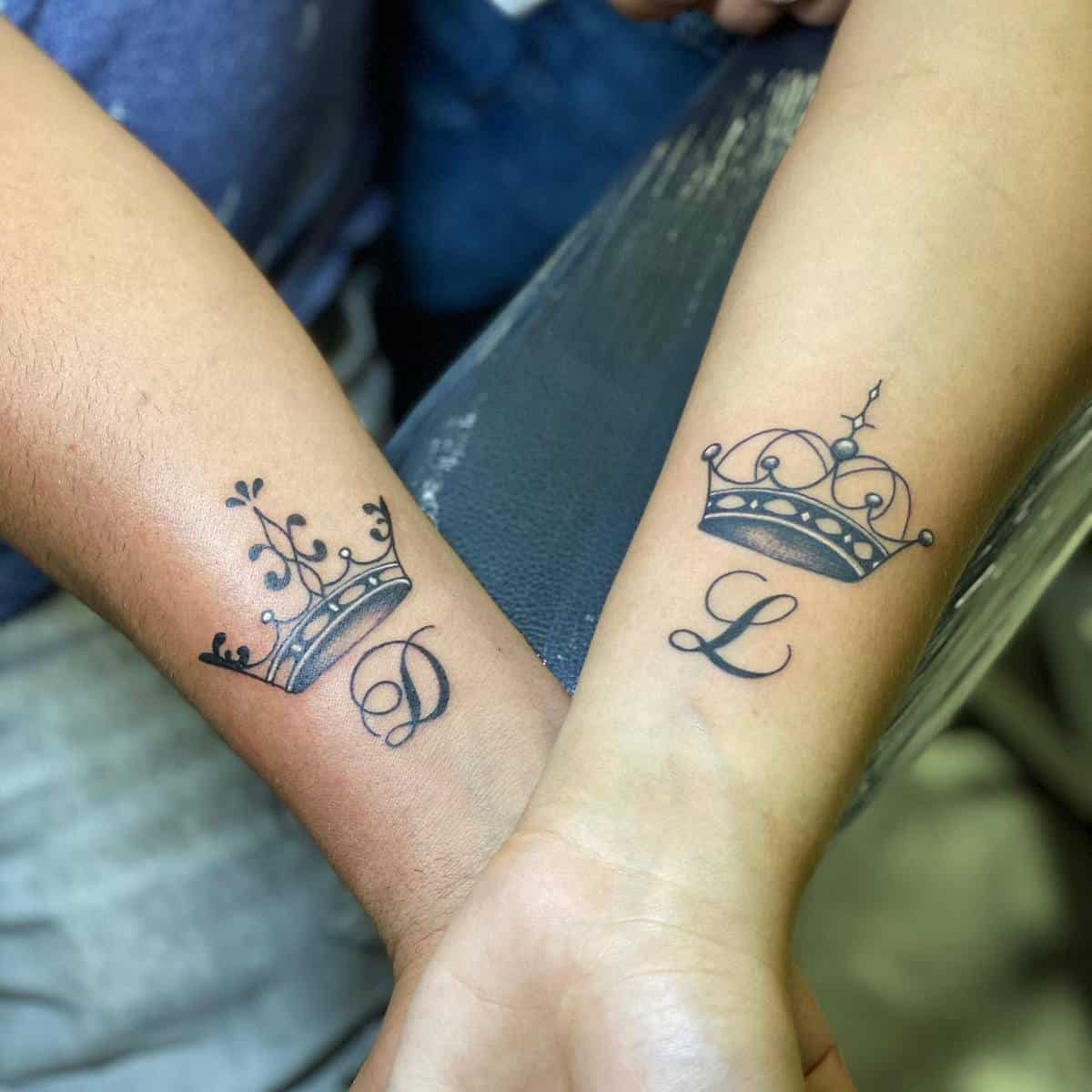 Crown Matching Tattoos richtatts_official