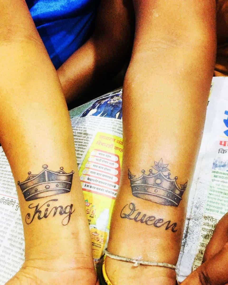 Crown Matching Tattoos vishal_tattooist0222