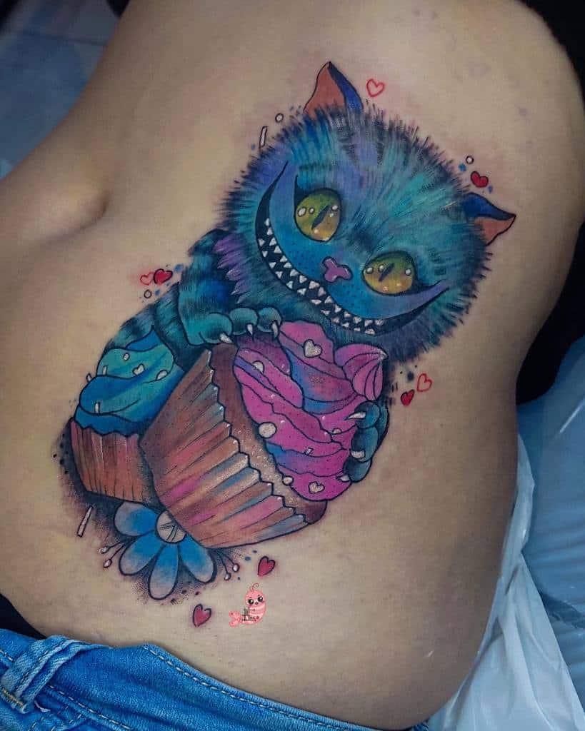 Cute Cheshire Cat Tattoo inkbyebi