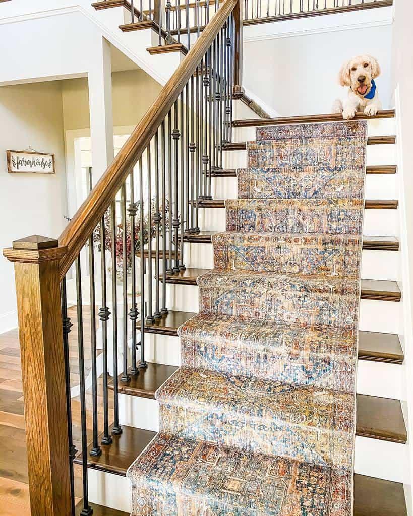 DIY Stair Runner Ideas -lehrfarmhouse