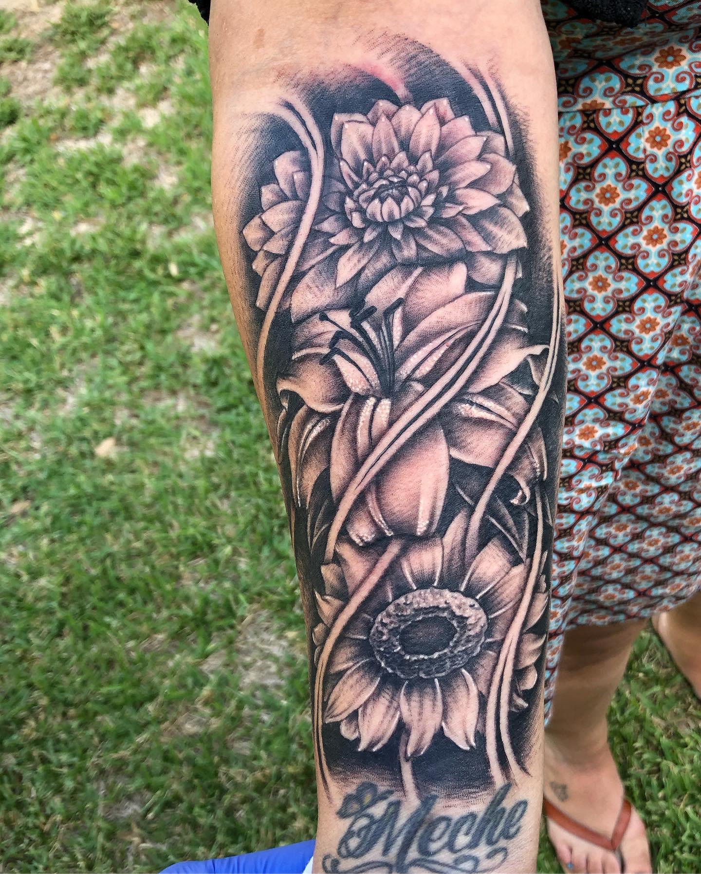 Dahlia Forearm Tattoo -str8blasted951