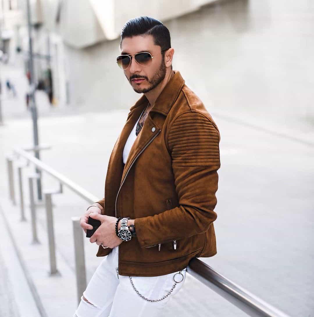 Dapper Leather Jacket Styles -calvetti_marcello
