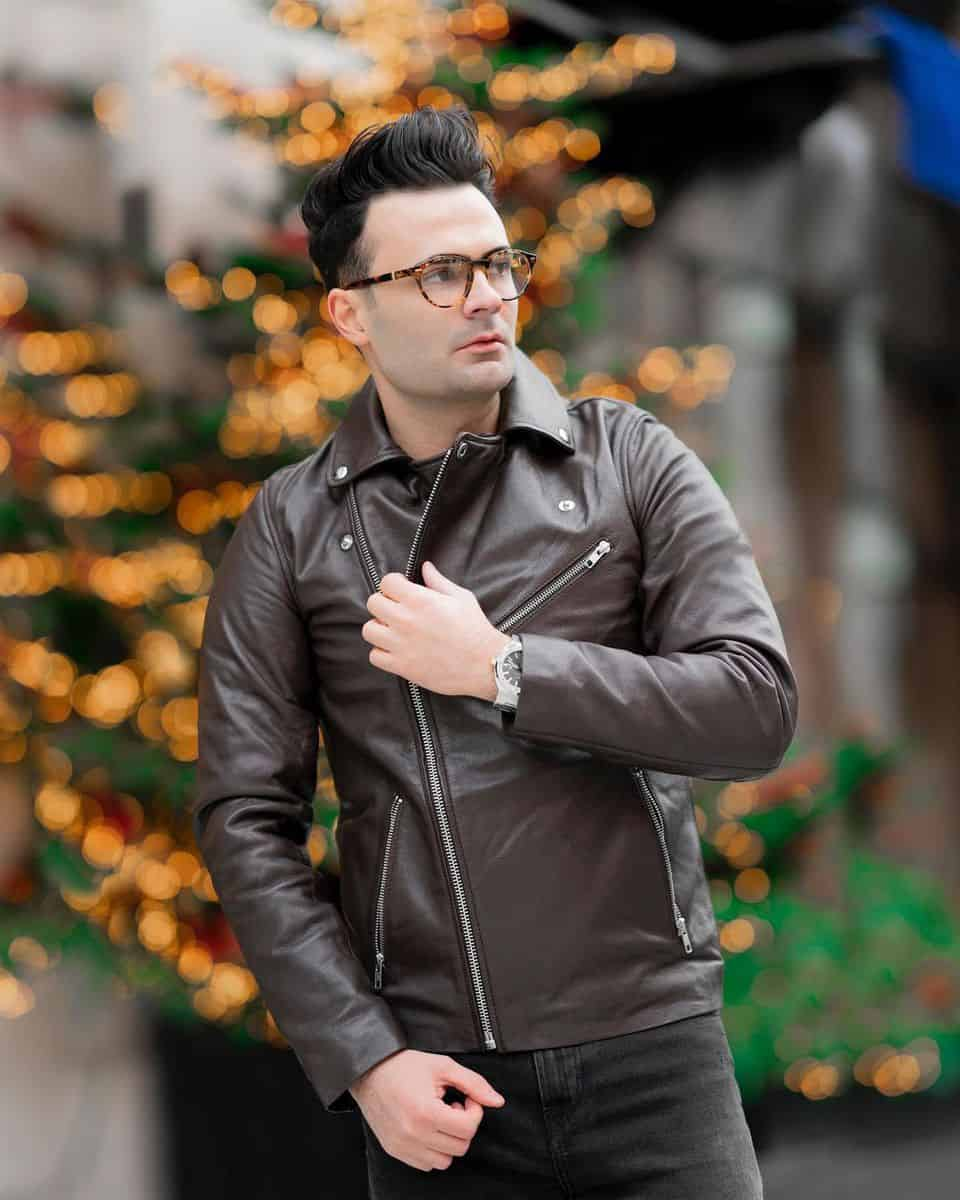 Dapper Leather Jacket Styles -ish.vision