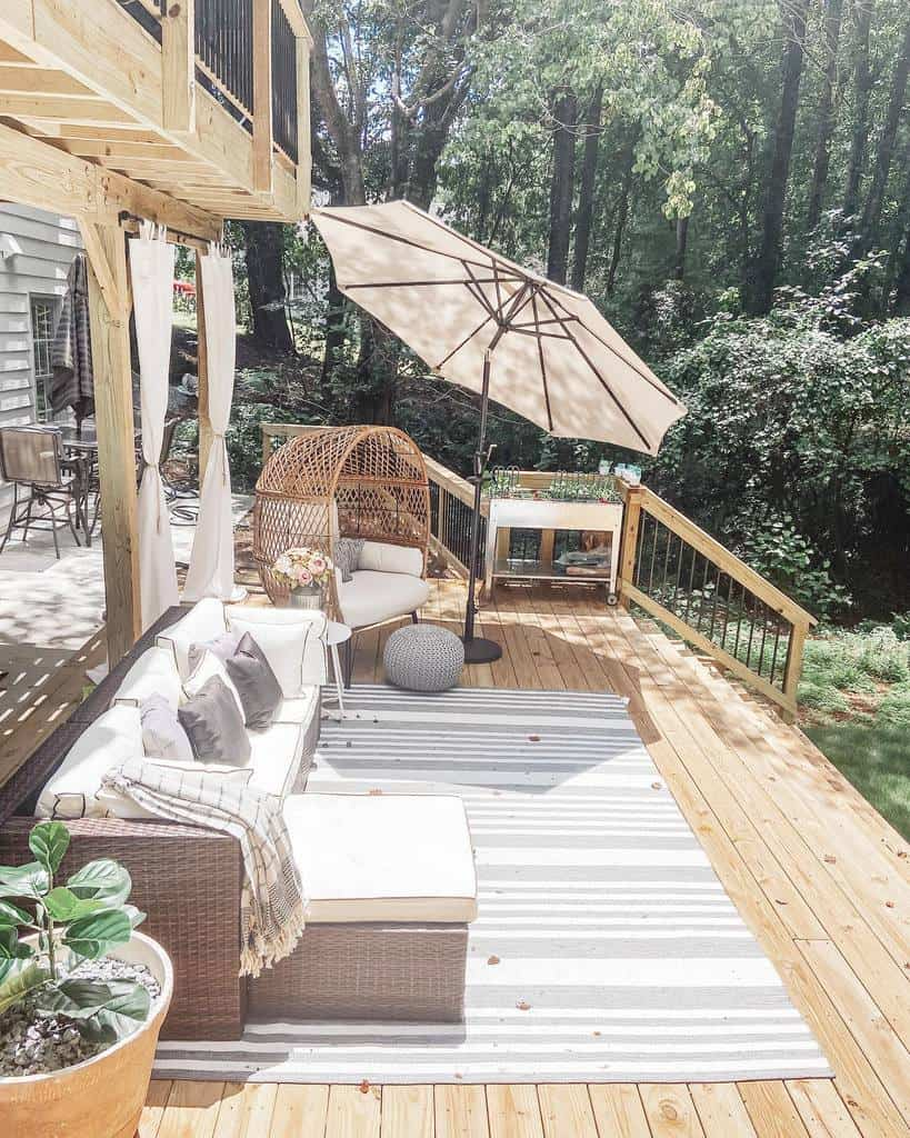 Deck DIY Backyard Ideas -athomewithquita
