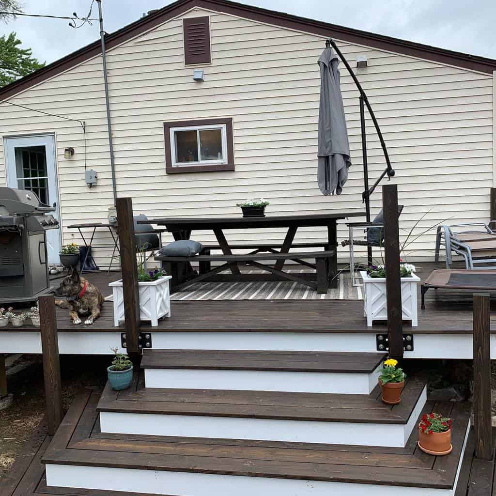 Deck DIY Backyard Ideas -rebeccamarie8