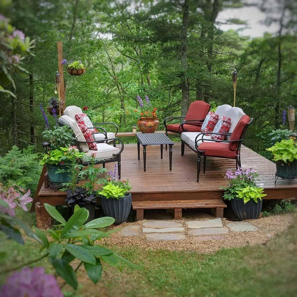 Deck Patio Garden Ideas -nancygreenphoto