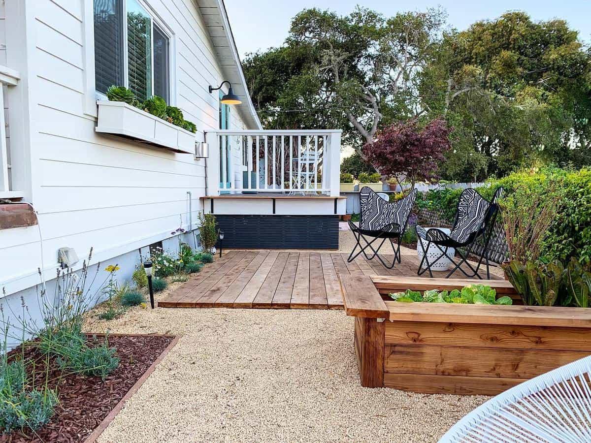 Decking Grass Free Yard Ideas -rochellemortstudio