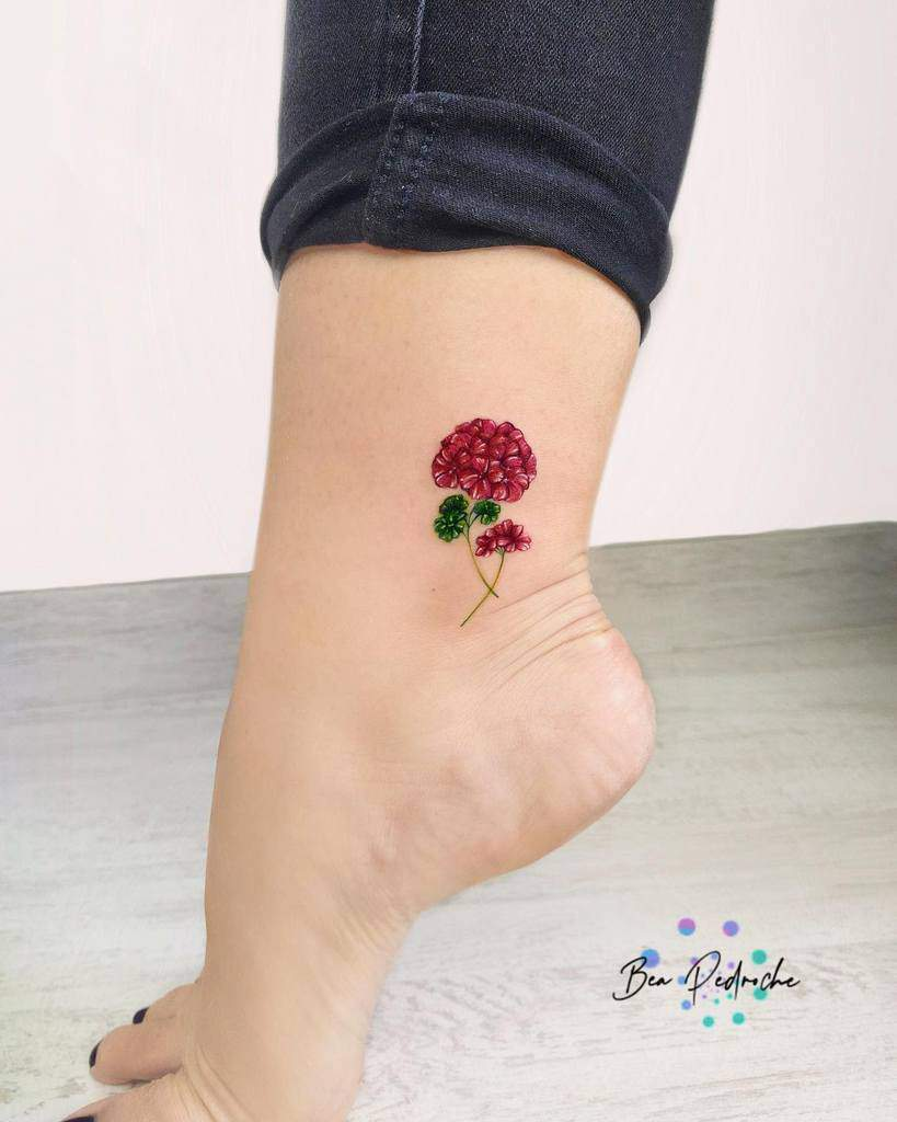 Delicate Flower Ankle Tattoos bea.pedroche