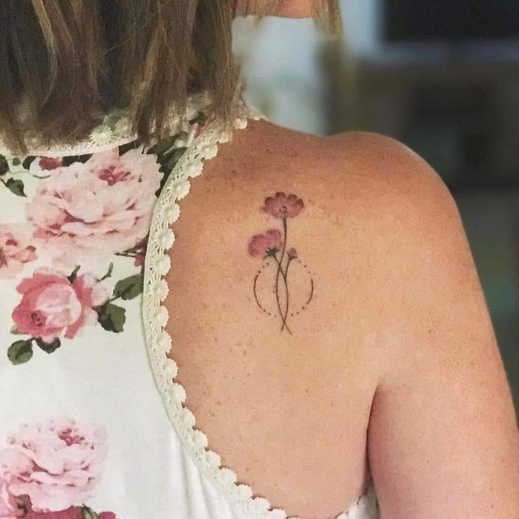 Delicate Flower Back Tattoos _crystalbrooke