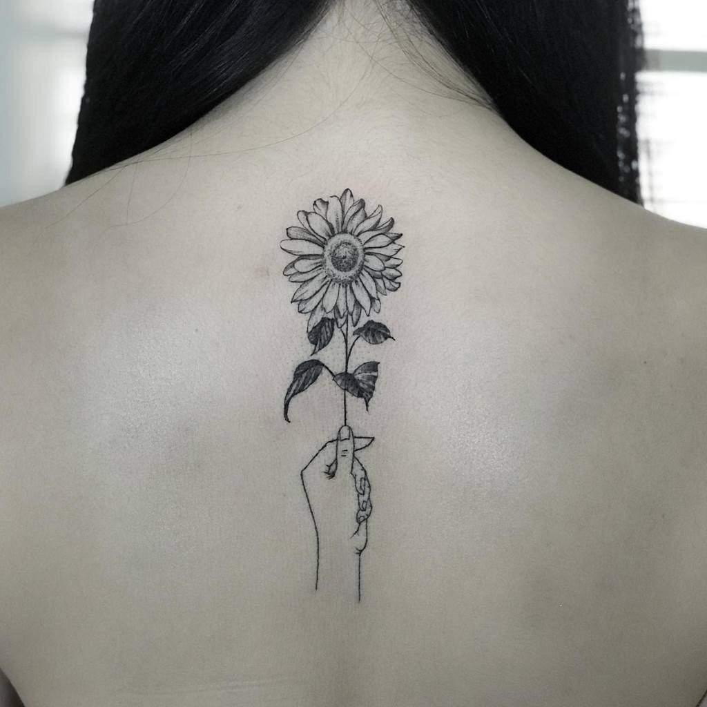 Delicate Flower Back Tattoos konxatattoo