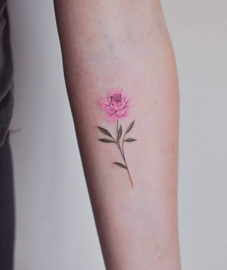 Delicate Flower Forearm Tattoos jennyli_tattoo