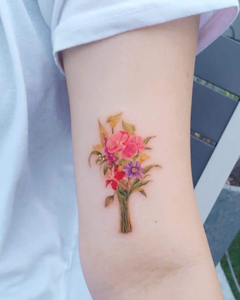 Delicate Flower Upperarm Tattoos 4 tilda_tattoo