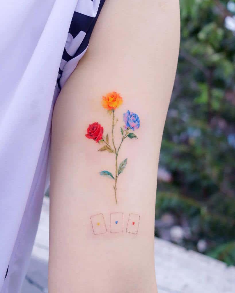 Delicate Flower Upperarm Tattoos tilda_tattoo