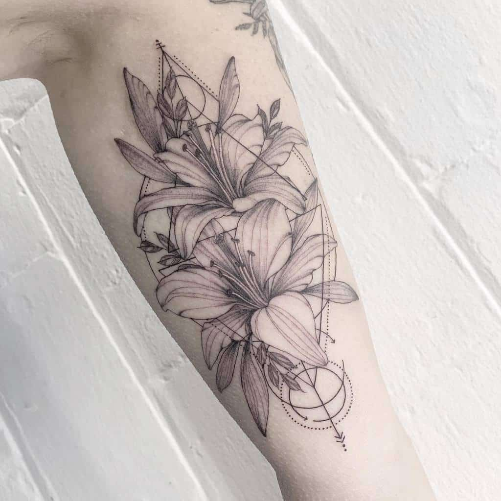 Delicate Lily Tattoo Devontucker Tattoo