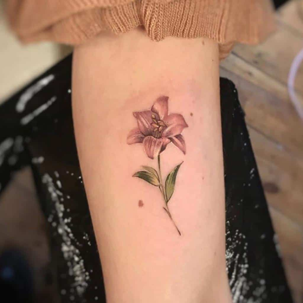 Delicate Lily Tattoo Sevenfoxestattoo