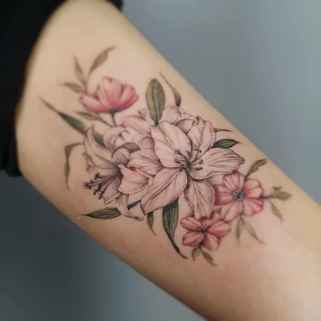 Delicate Lily Tattoo Up Tattooer