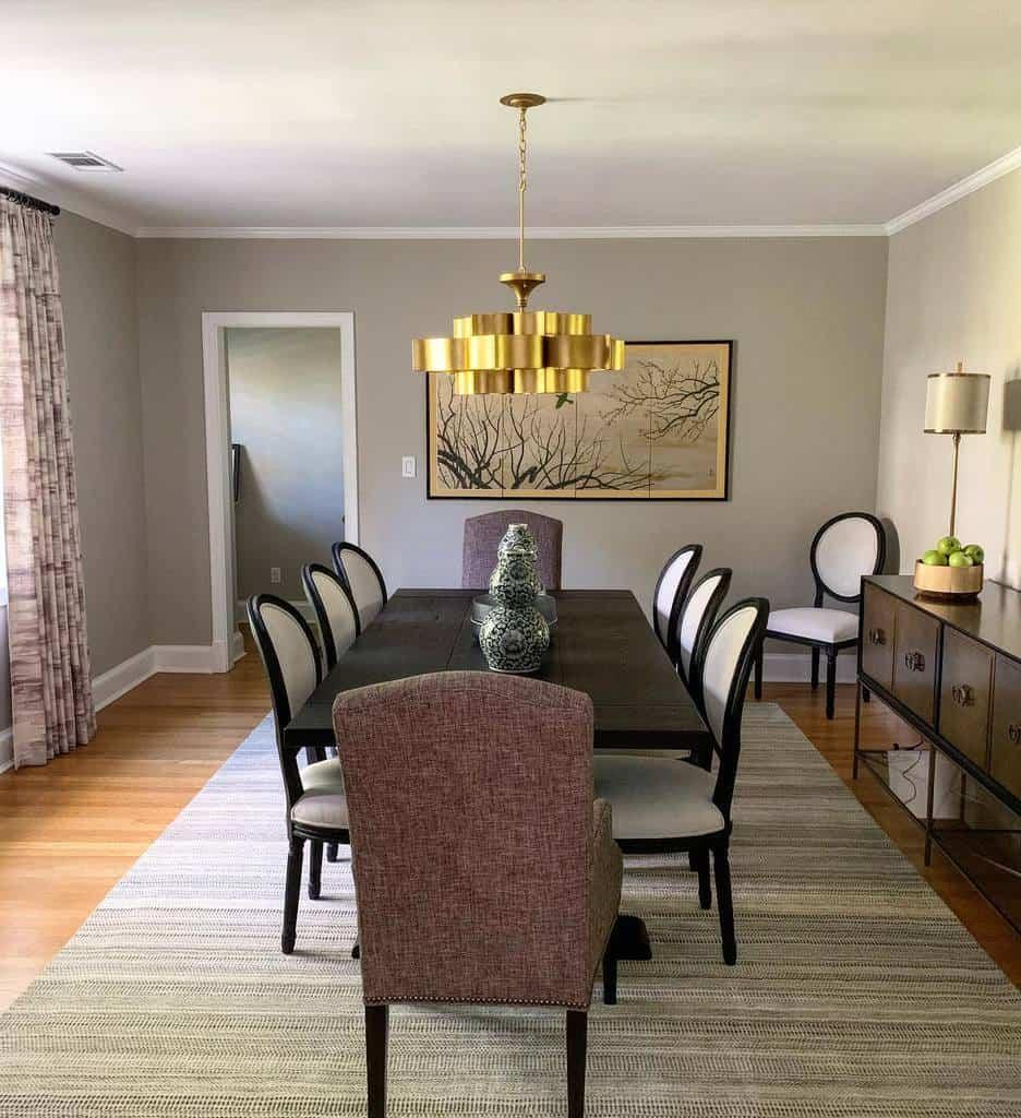 Dining Room Transitional Design Ahrdesign