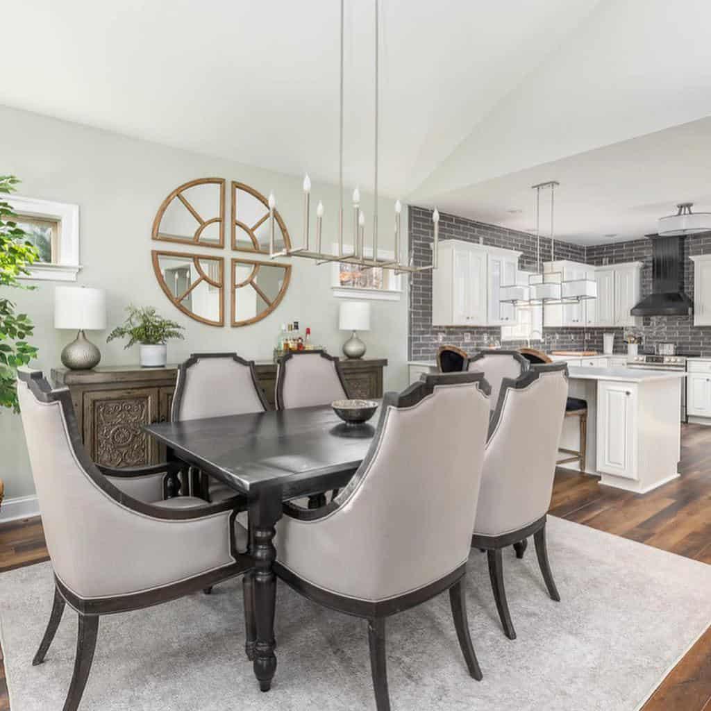 Dining Room Transitional Design Caseyevesdesign