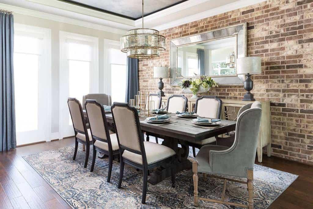 Dining Room Transitional Design Nikolestarrinteriors