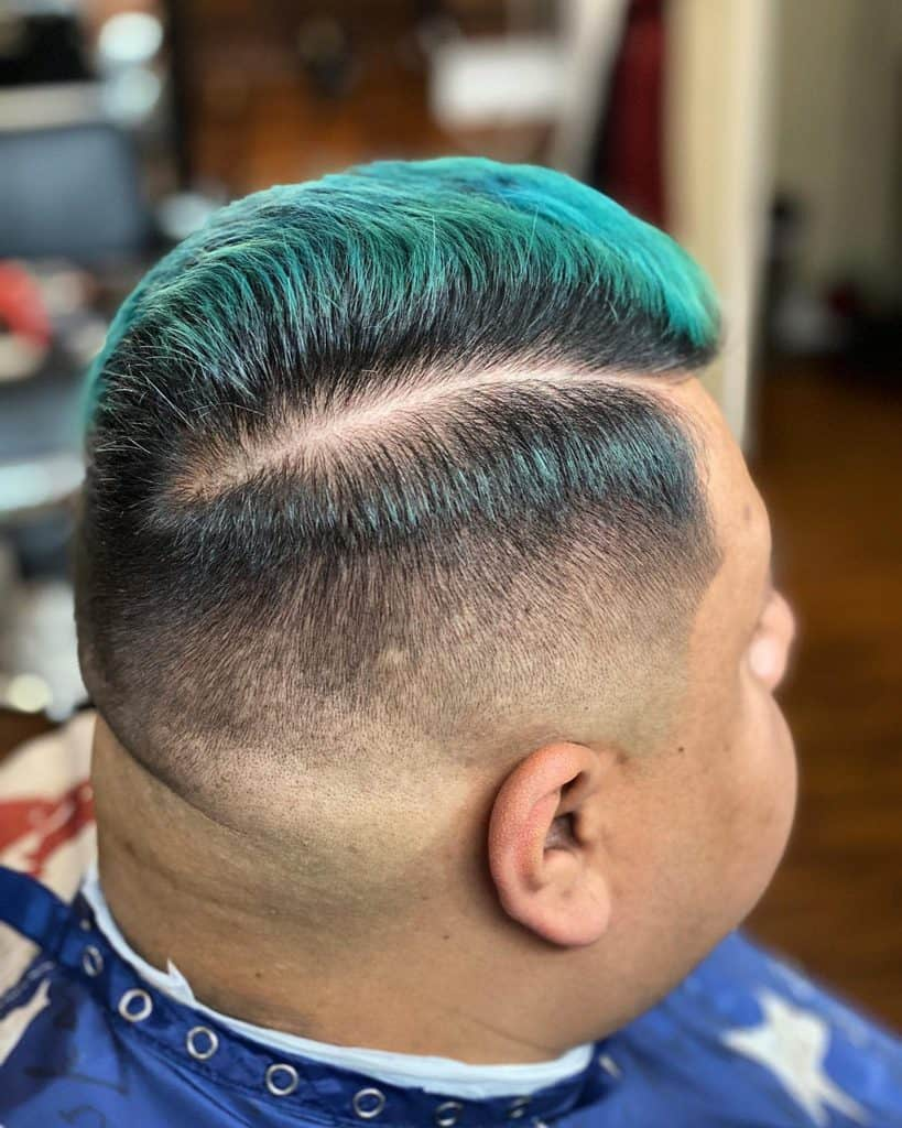 Disconnected Combover Hairstyle