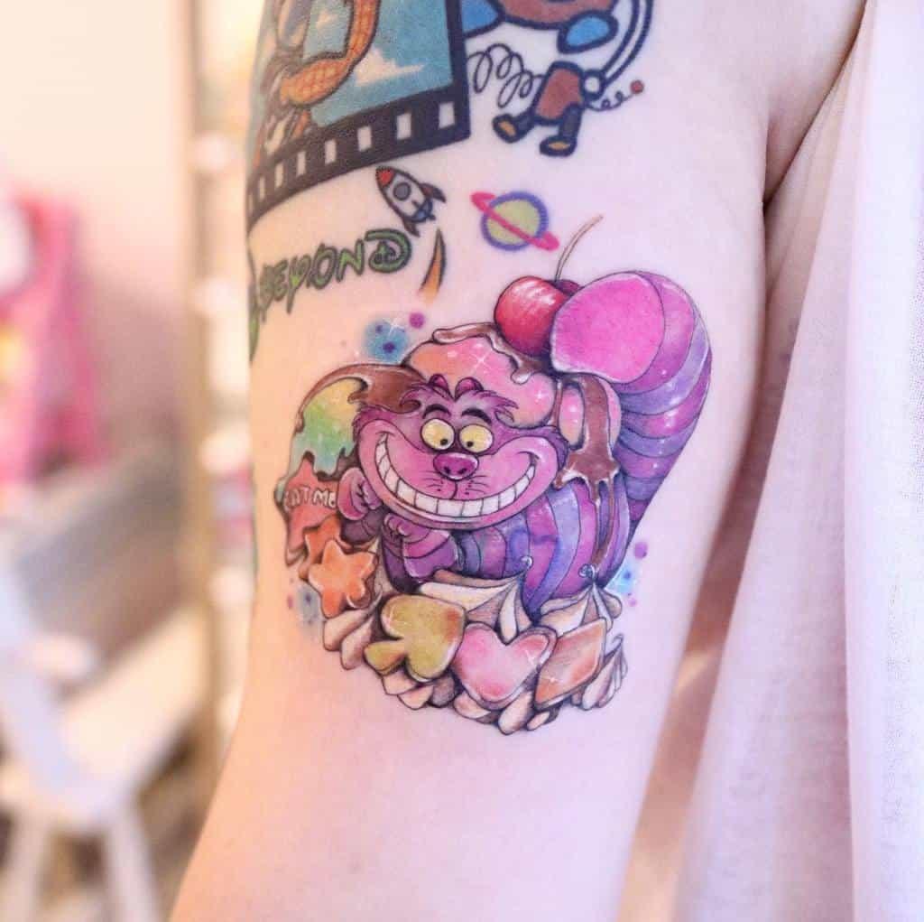 Disney Cheshire Cat Tattoo 33.tattoo