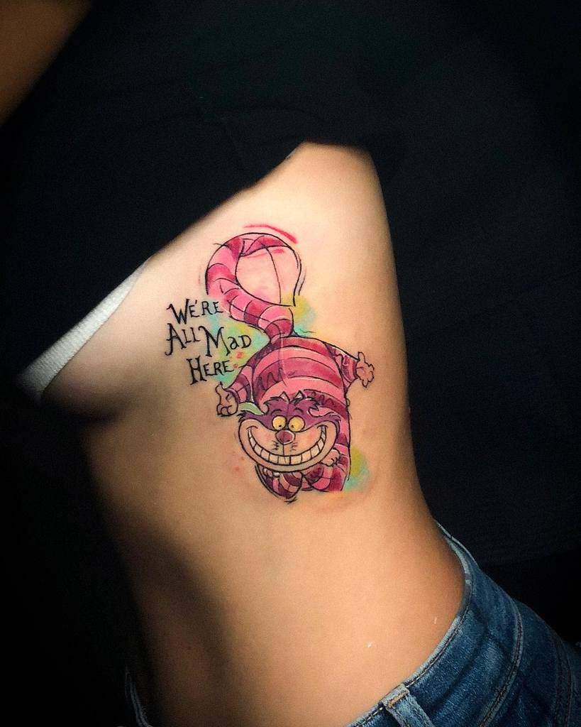 Disney Cheshire Cat Tattoo sofiaspiral