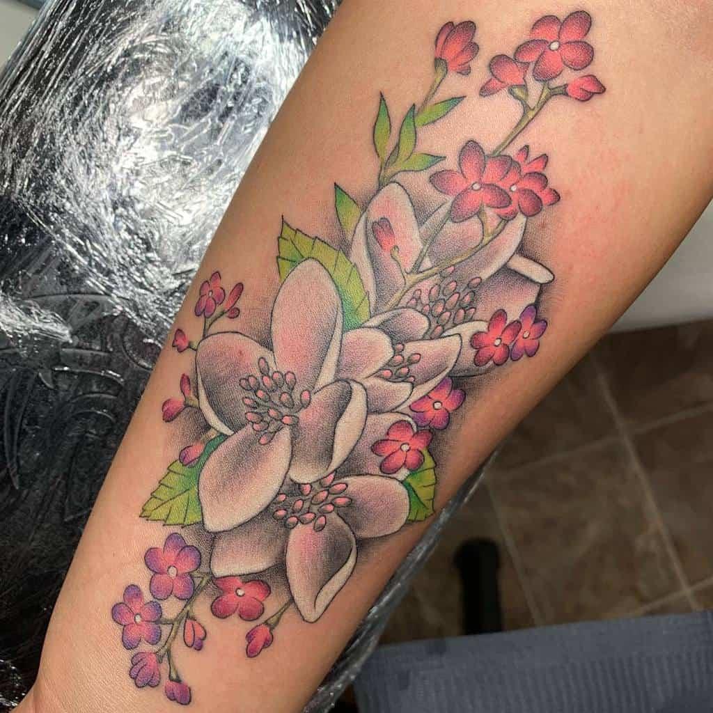 Dogwood Flower Forearm Tattoo joshshrift