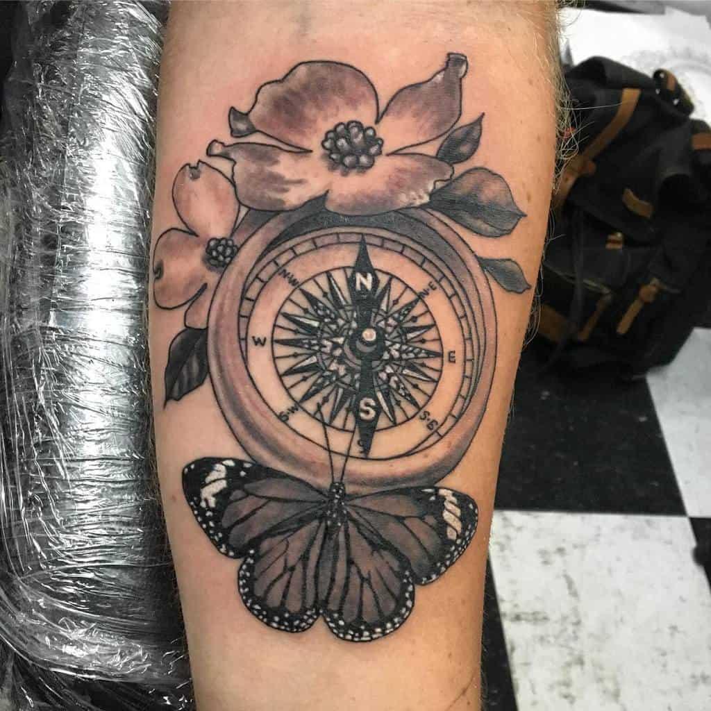 Dogwood Flower Forearm Tattoo noalox