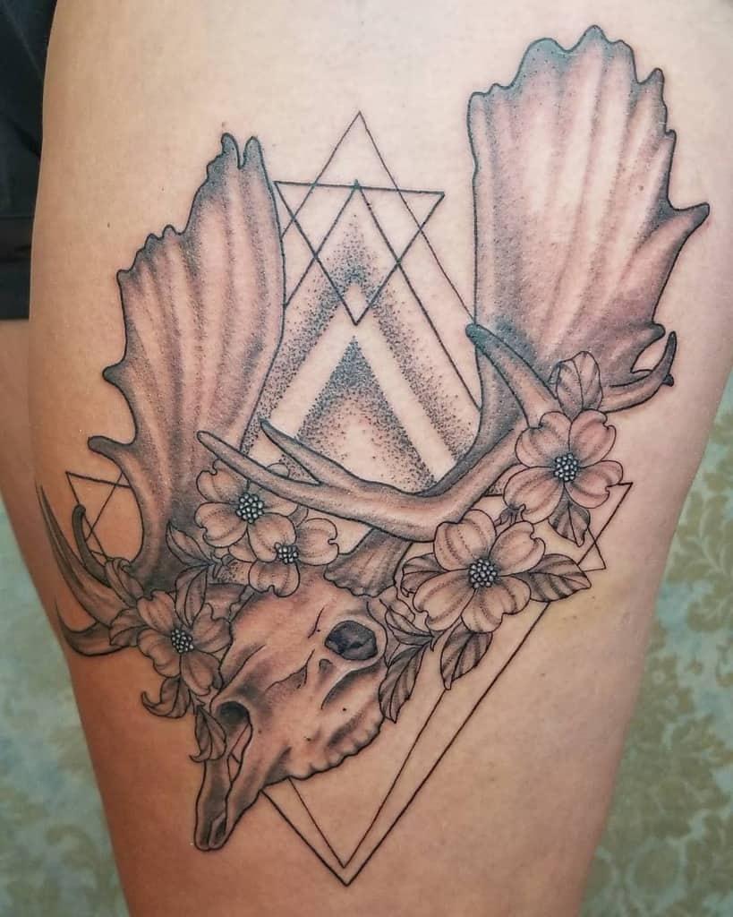 Dogwood Flower Leg Tattoo haillymartintattoos