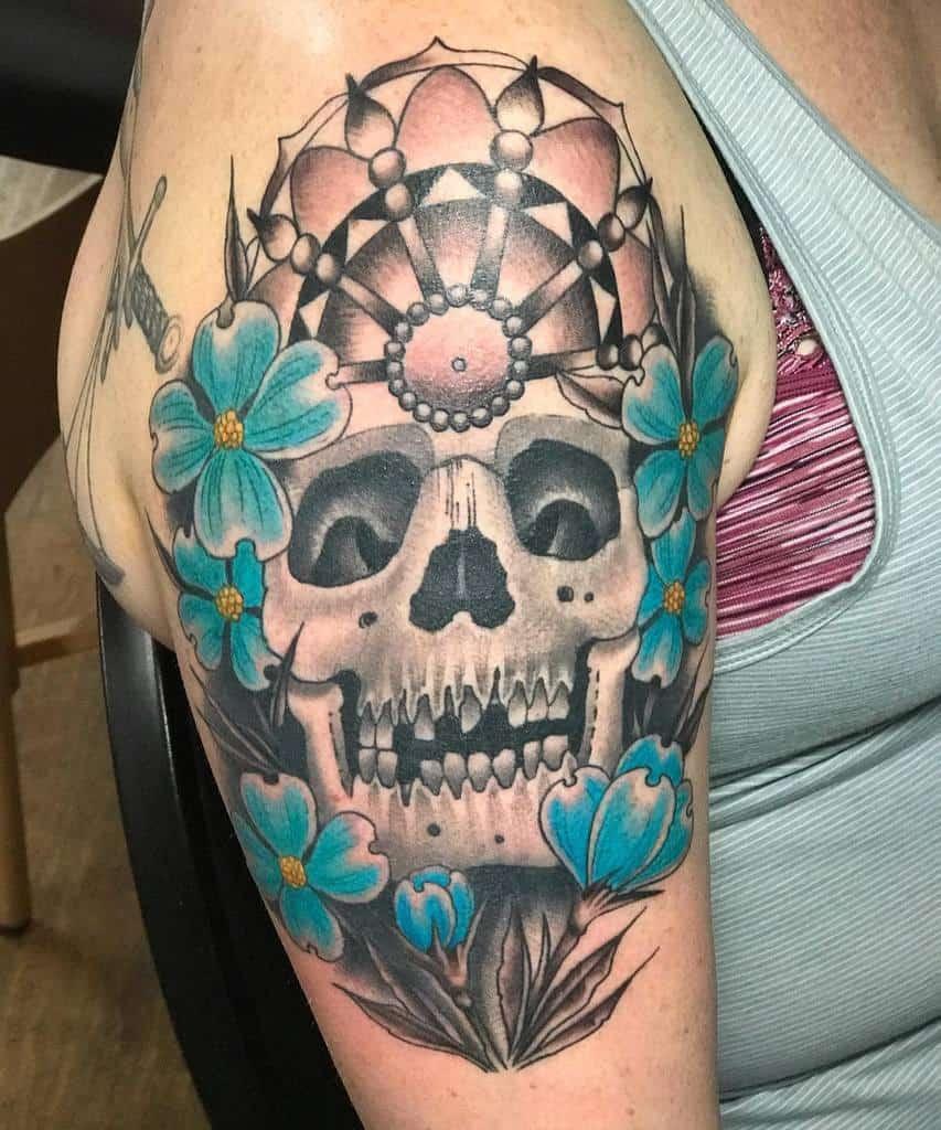 Dogwood Flower Shoulder Tattoo grovercollins