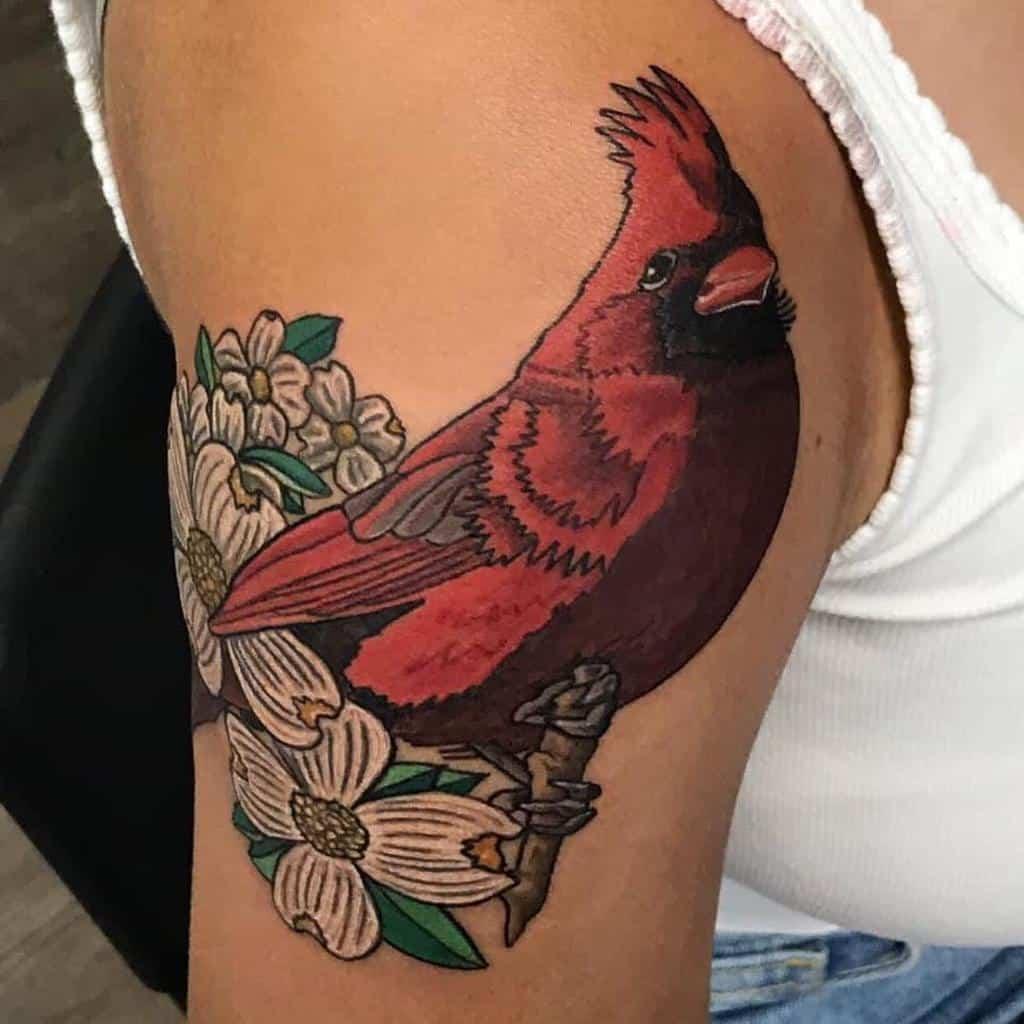 Dogwood Flower Shoulder Tattoo johnthrasherthiel