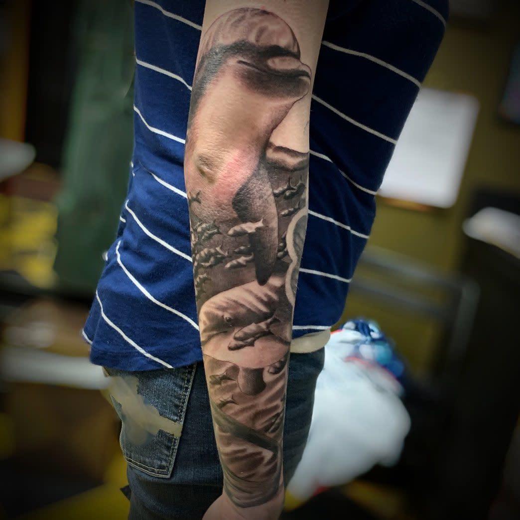 Black Dolphin Tattoo -eric_diadem_blair