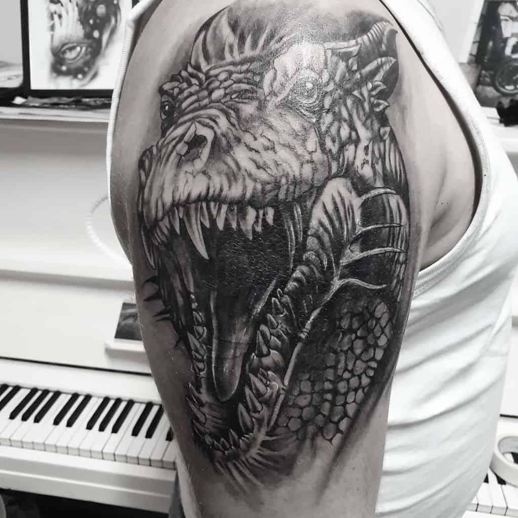 Dragon-Head-Arm-Tattoo-bikerwitchart