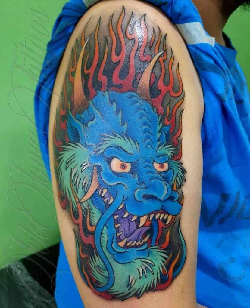 Dragon-Head-Arm-Tattoo-jeklopezmorrigantattoo
