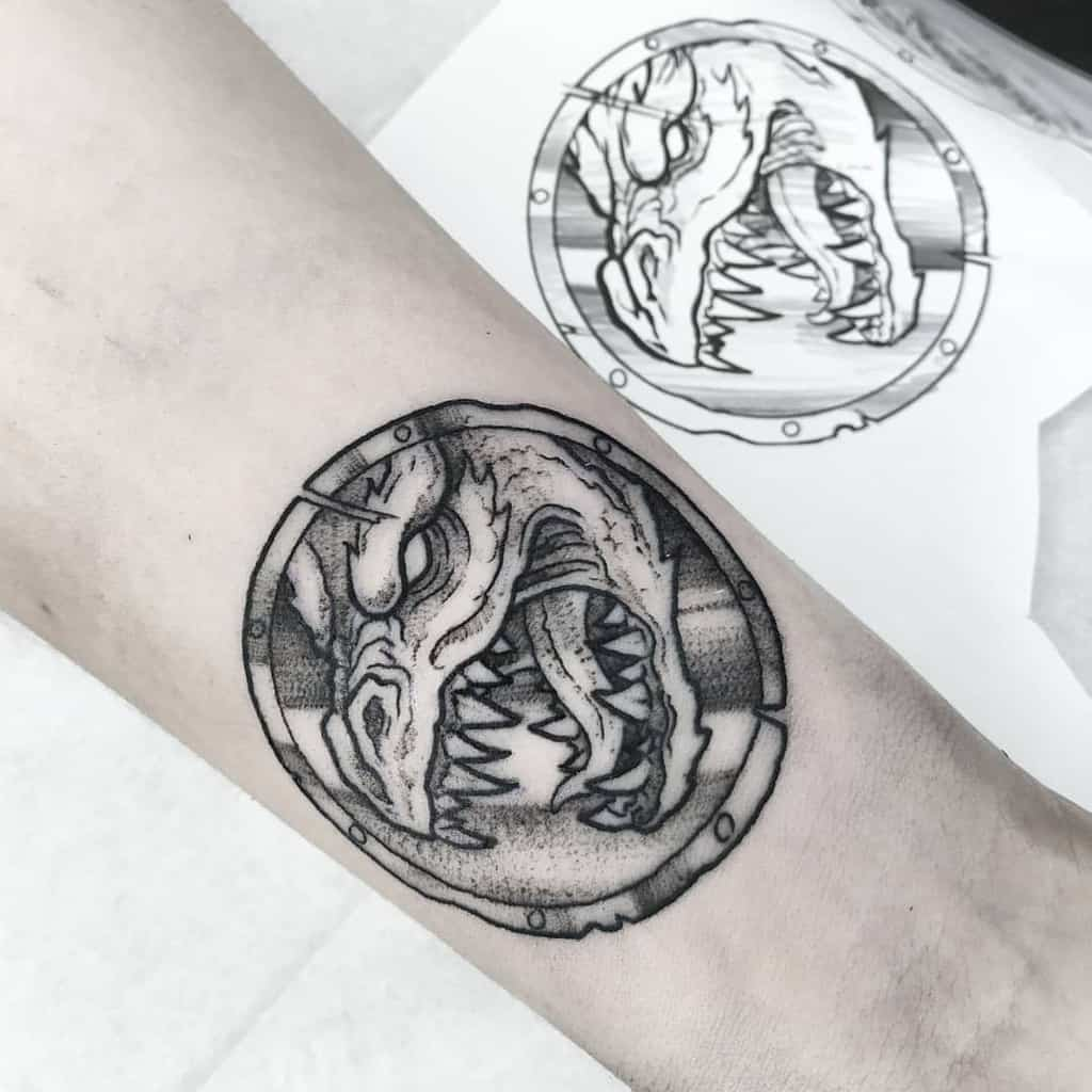 Dragon Dungeons And Dragons Tattoos Irisblacktattoo