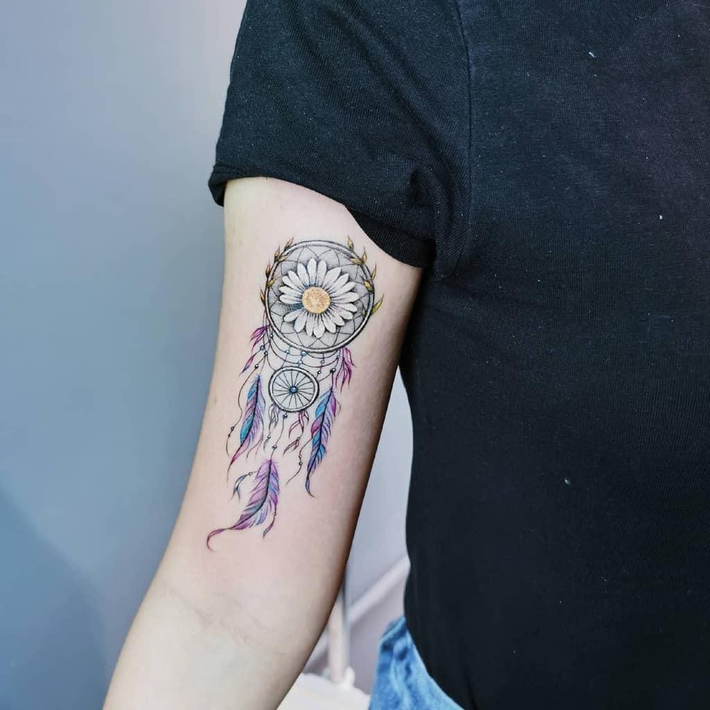 Dream Catcher Arm Tattoos for Women hannah.tattoos