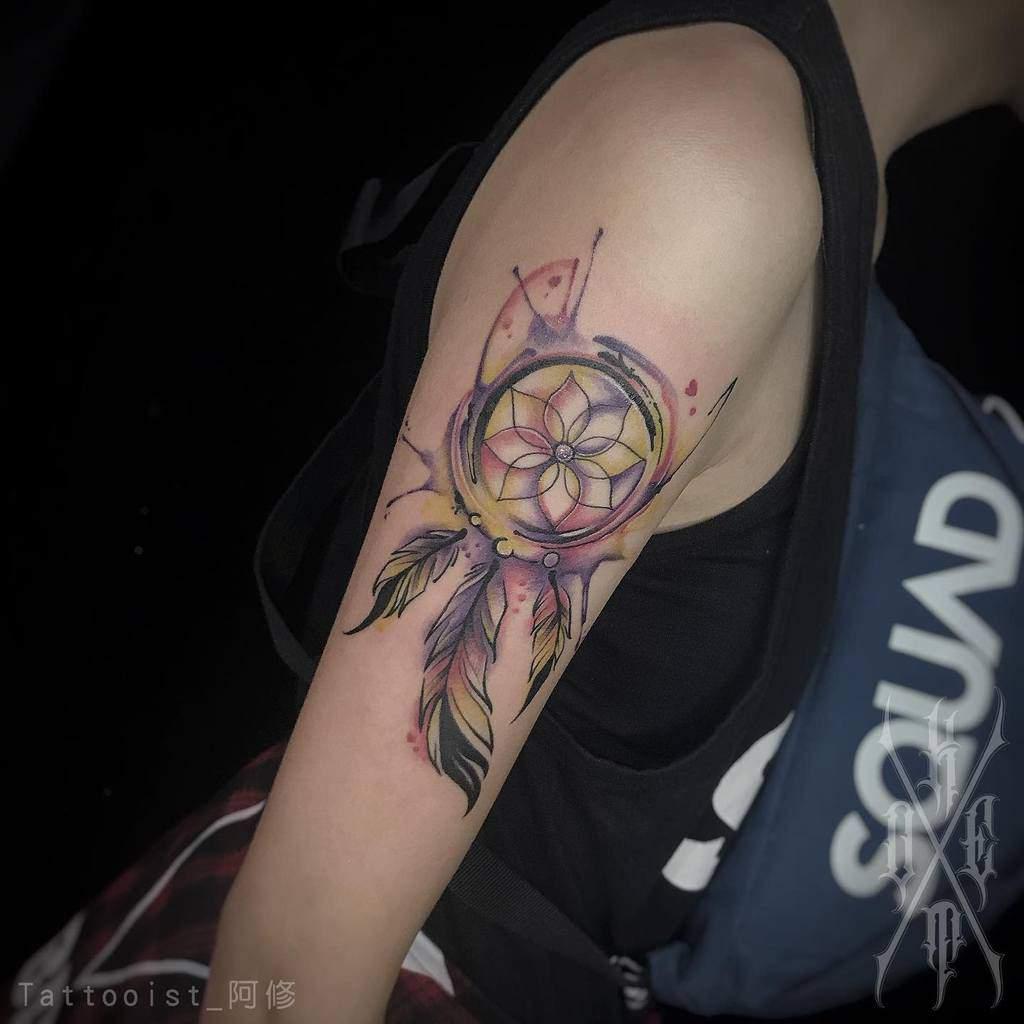 Dream Catcher Arm Tattoos for Women xxiuink
