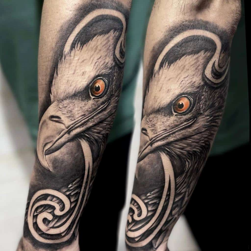 Eagle Head Arm Tattoo artisan_shankey