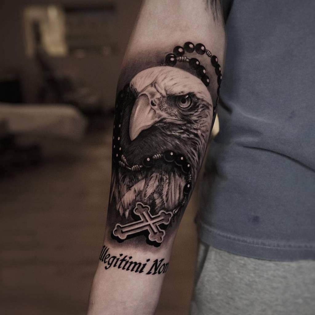 Eagle Head Arm Tattoo peraltattoo_art