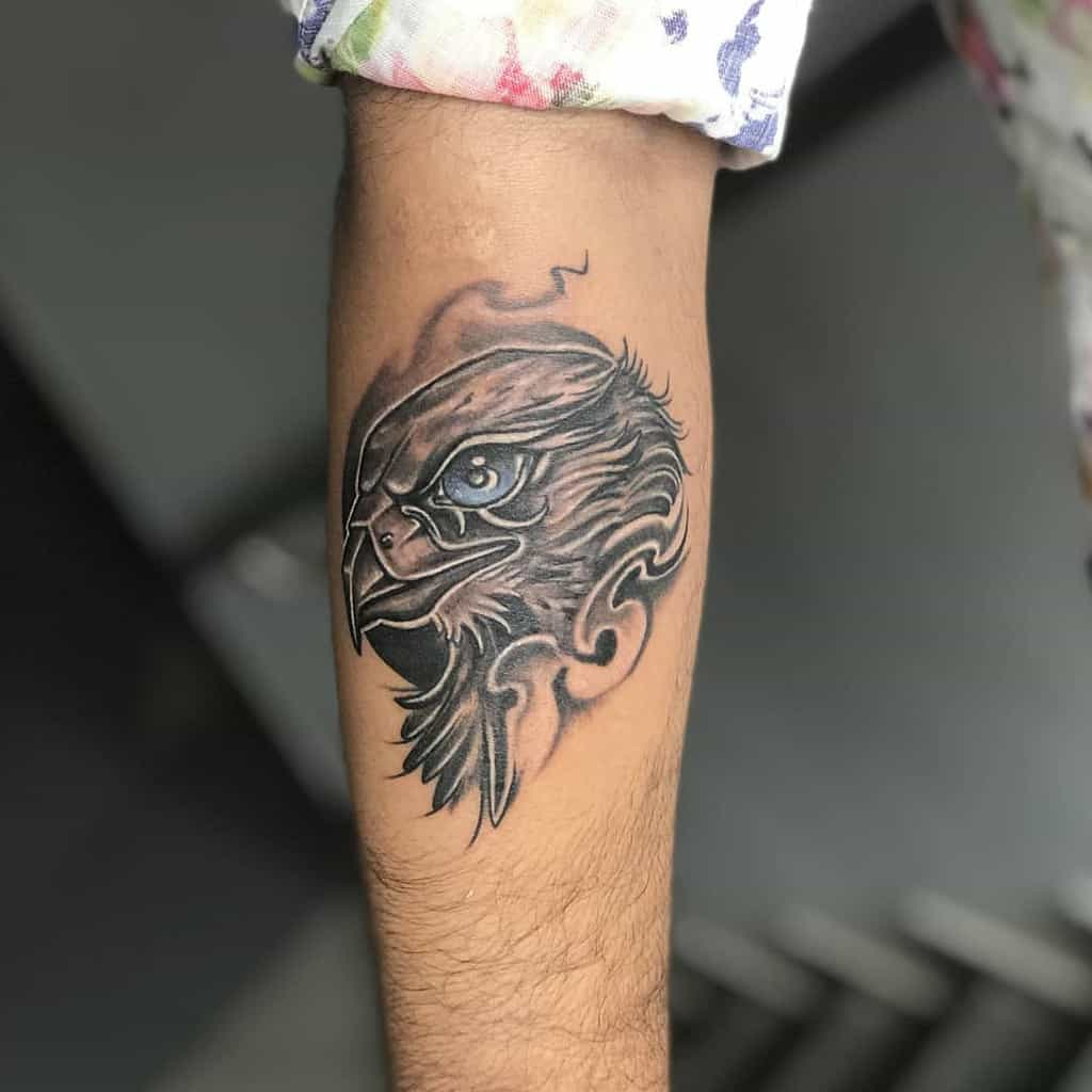 Eagle Head Arm Tattoo phoenix_tattoo_mayur