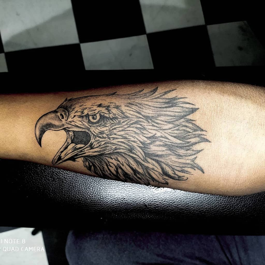 Eagle Head Arm Tattoo thejokertattoostudio