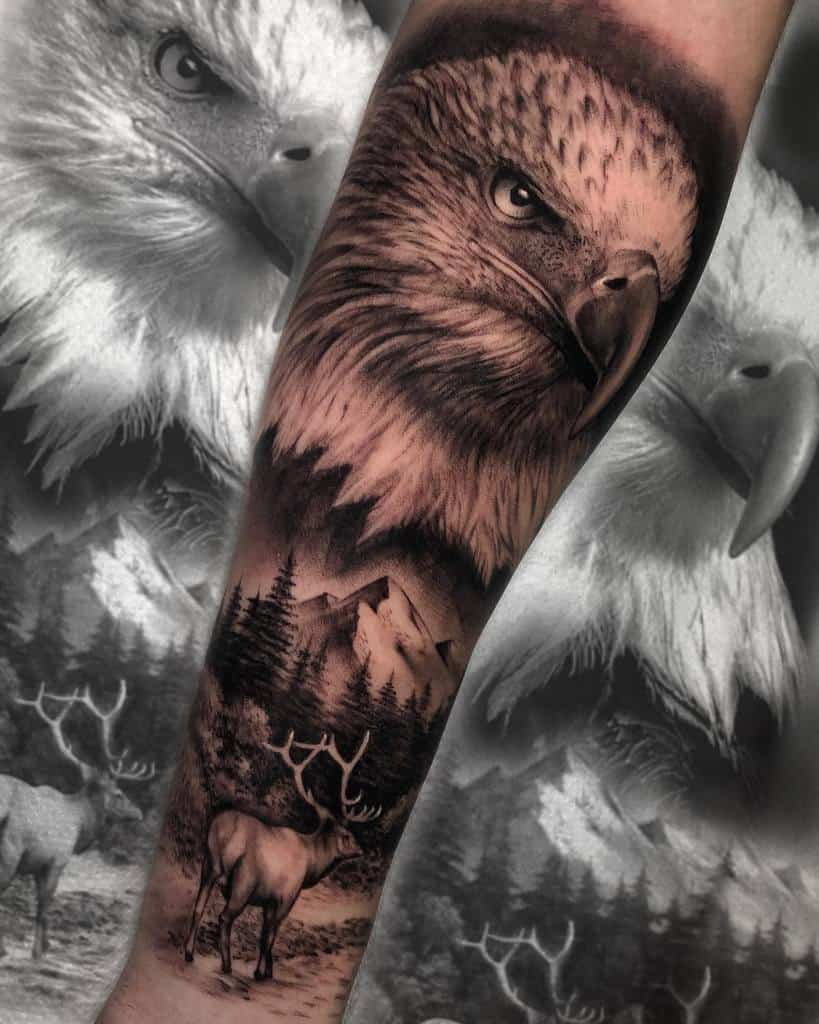 Eagle Head Arm Tattoo tina.pieroni.tattoo