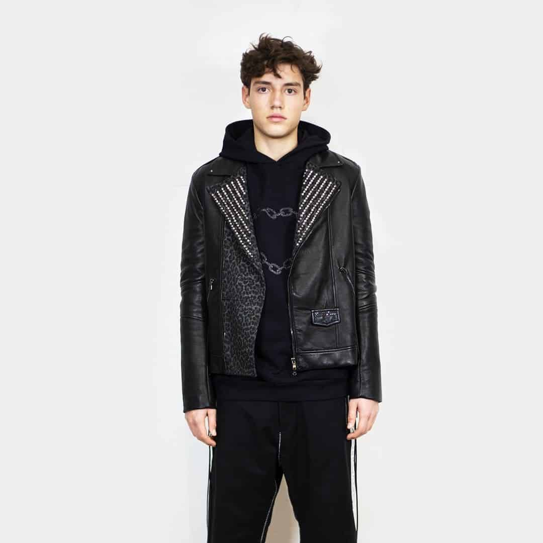 Embelish Leather Jacket Styles -ivoangelstore