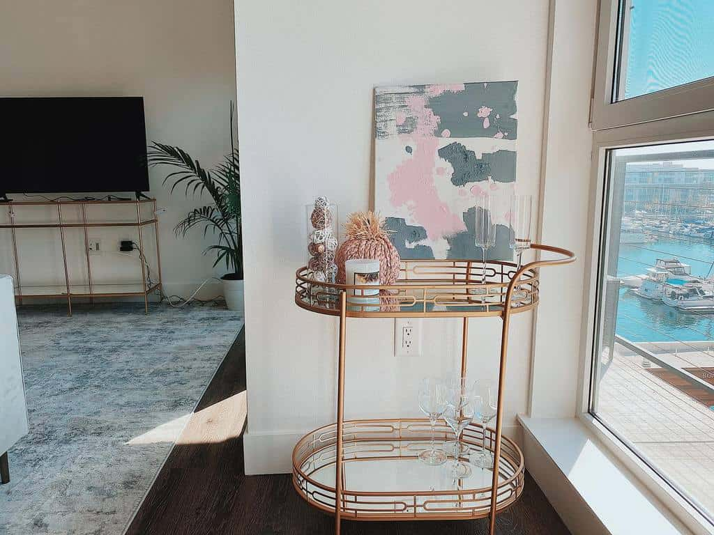 Fancy Bar Cart Ideas -coloredbypal