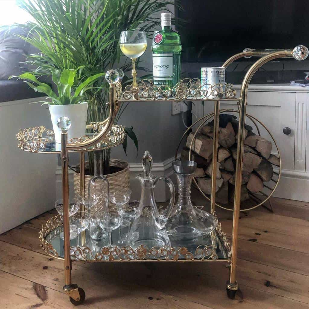 Fancy Bar Cart Ideas -myportlandtownhouse