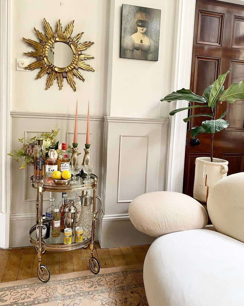 Fancy Bar Cart Ideas -thevintagetraderuk