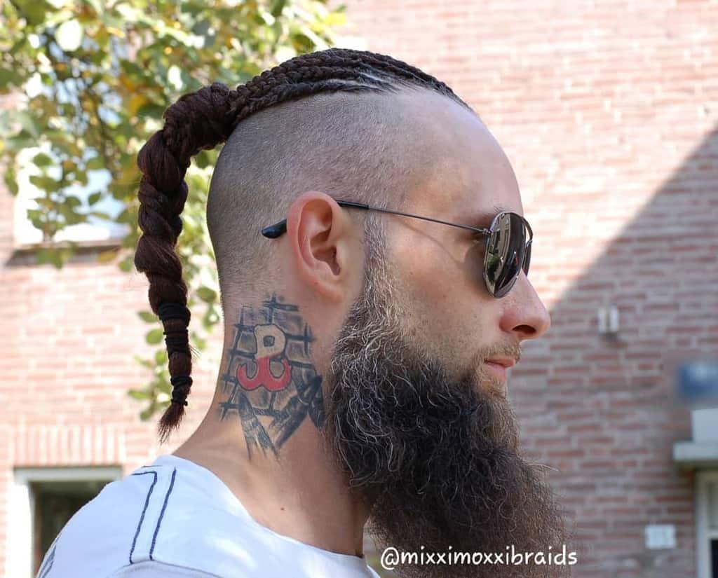 Feeding Braid Black Hair Men Braid Style