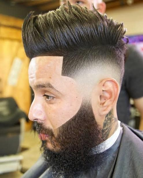 man with fierce texture fohawk hairstyle